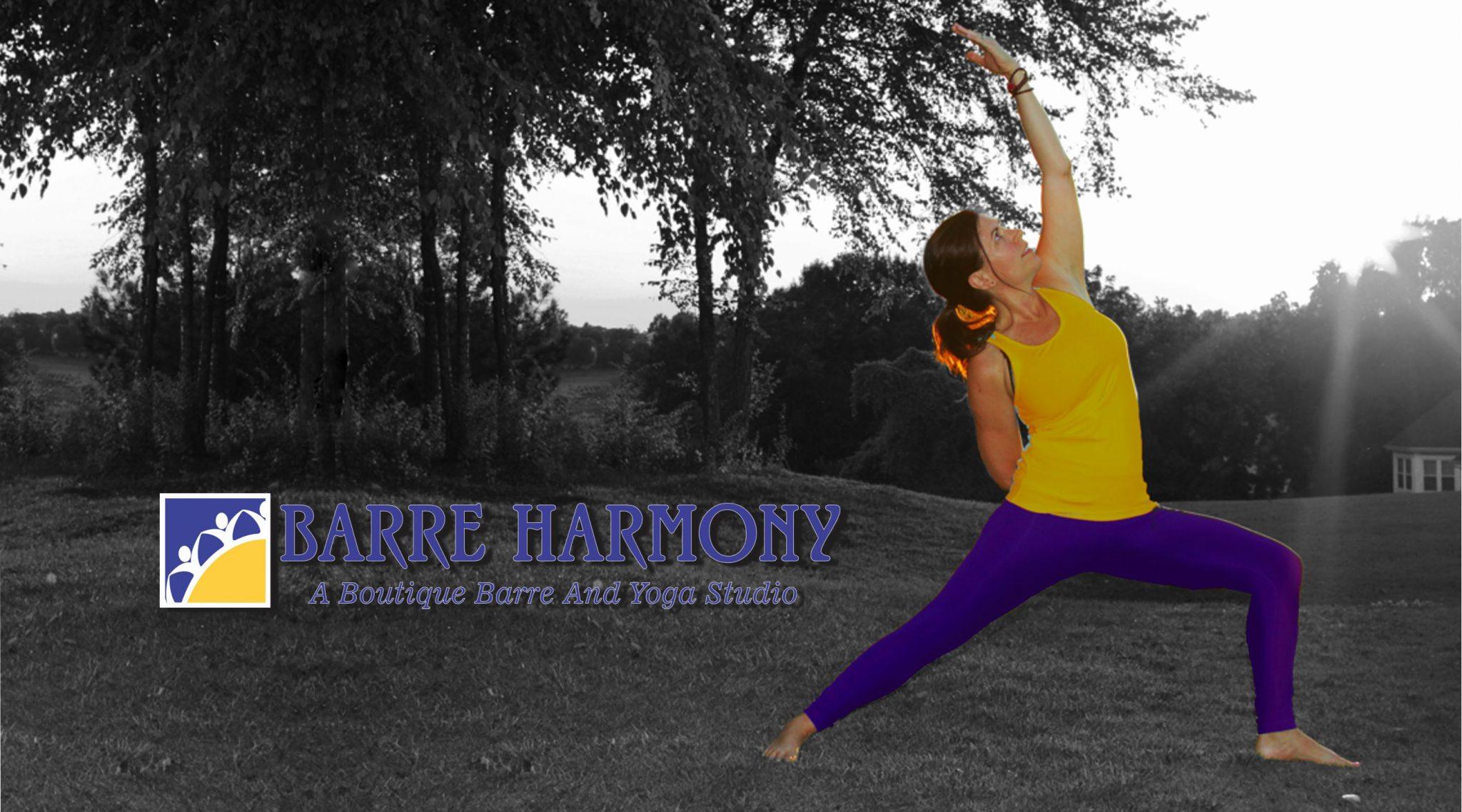 Barre Harmony Home page